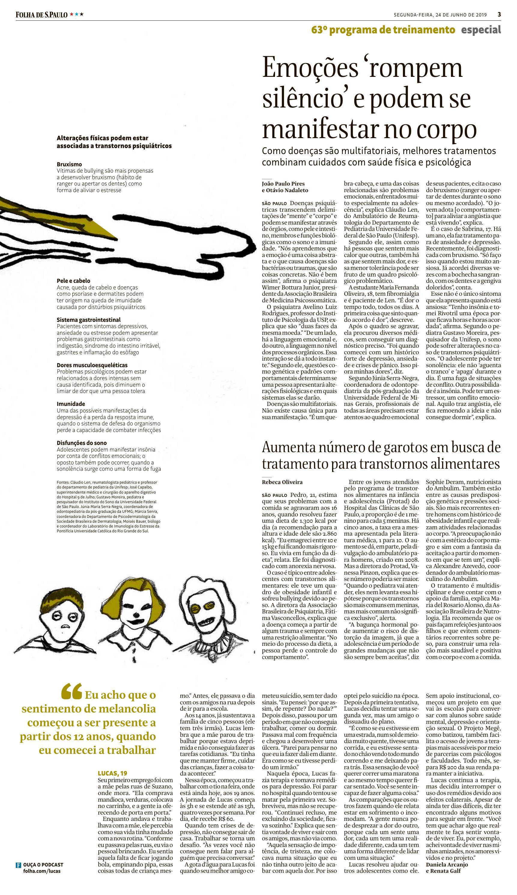 Médica nutróloga da ABRAN fala sobre transtornos alimentares em adolescentes na Folha de S. Paulo