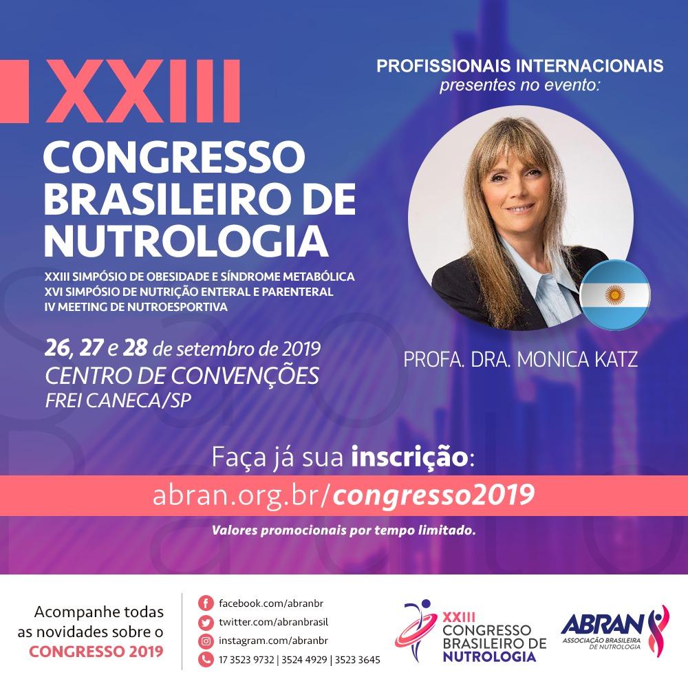 """Mónica Katz, do método """"Não Dieta"""", participa do XXIII Congresso Brasileiro de Nutrologia"""